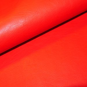 Leather Look Medium Weight PU Fabric  RED