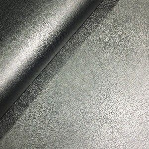 Leather Look Medium Weight PU Fabric STEEL