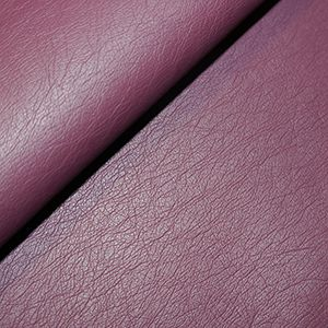 Leather Look Medium Weight PU Fabric  WINE