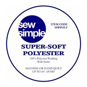 Sew Simple Super-Soft 100% Polyester Wadding with Scrim
