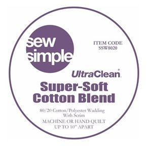 Sew Simple UltraClean Super-Soft 80/20 Cotton/Polyester Blend Wadding with Scrim